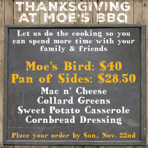 Thanksgiving Moe's Mobile Alabama
