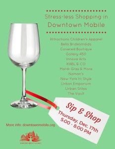 sip and shop downtown