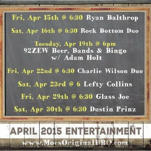 Moes BBQ Events April 2016 - Mobile Alabama