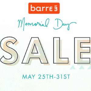 Barre3_Memorial Day Sale