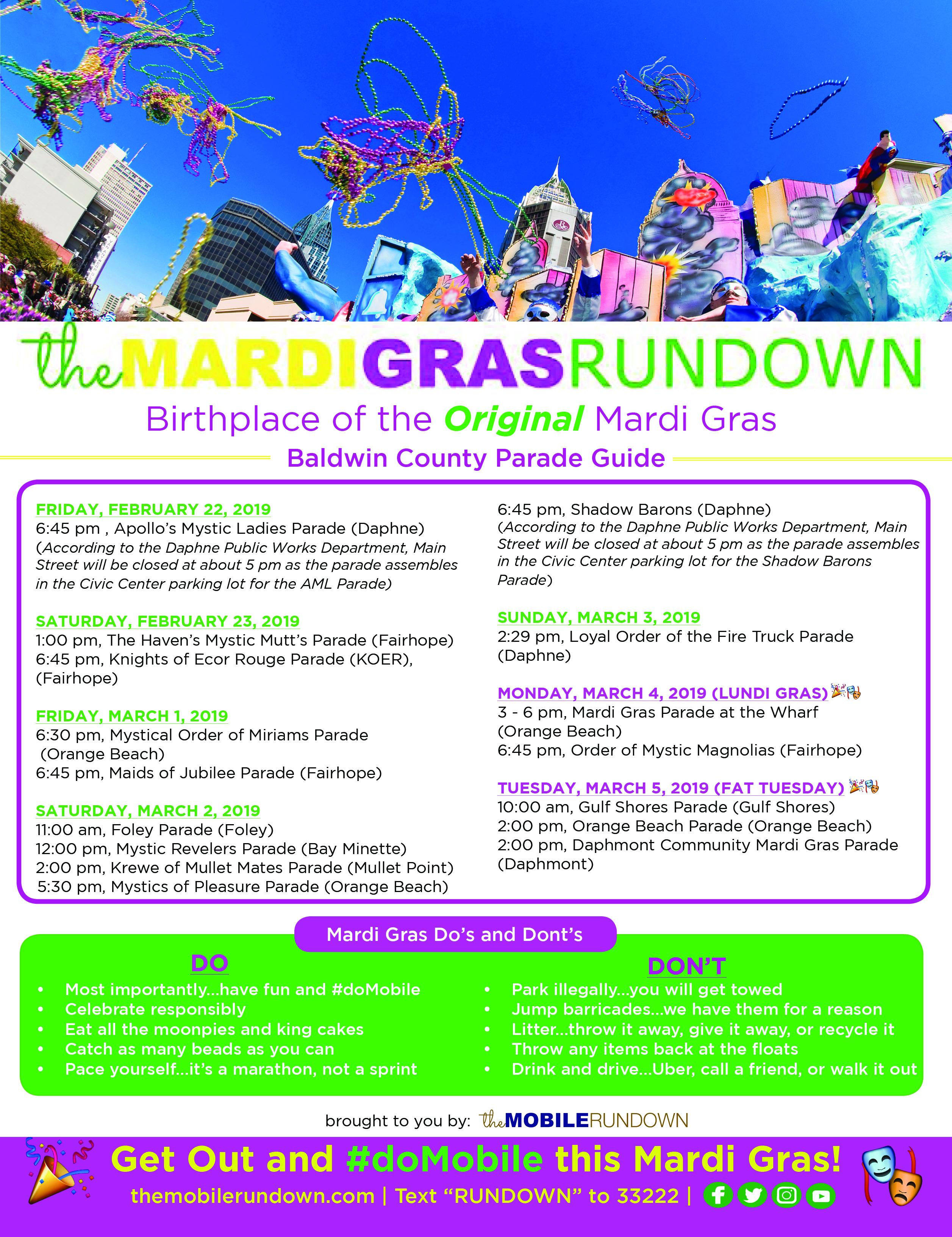 dates of mardi gras 2020