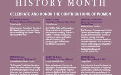 IN THIS WEEK'S RUNDOWN – Women's History Month, Trains, and Art Displays