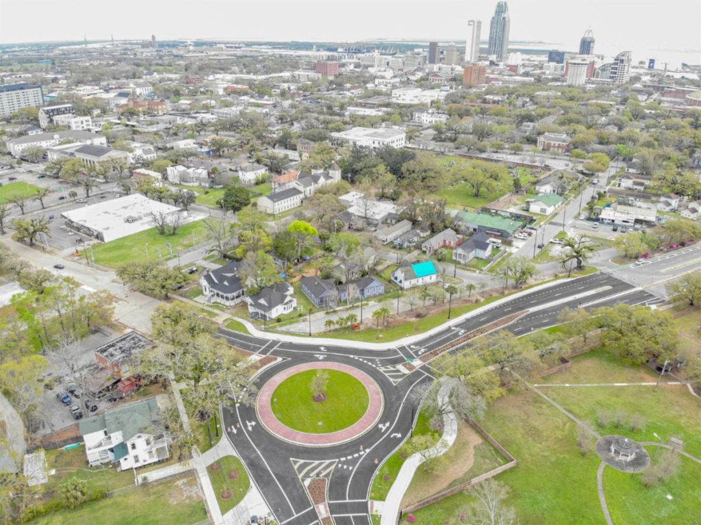 Mobile Alabama roundabout